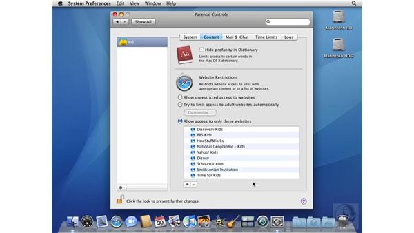 Limiting access with the Parental Controls system preference: Mac OS X 10.5 Leopard Beyond the Basics