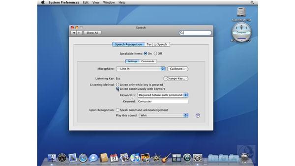 Using Speech: Mac OS X 10.5 Leopard Beyond the Basics