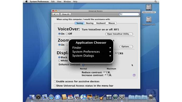 The Universal Access system preference: VoiceOver: Mac OS X 10.5 Leopard Beyond the Basics