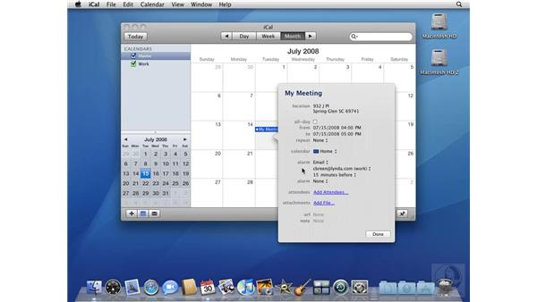 Creating complex iCal events: Mac OS X 10.5 Leopard Beyond the Basics