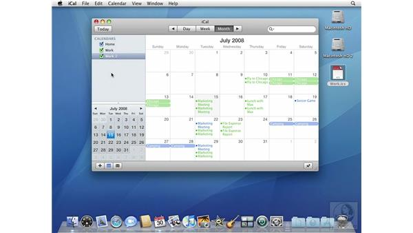 Importing and exporting calendars: Mac OS X 10.5 Leopard Beyond the Basics
