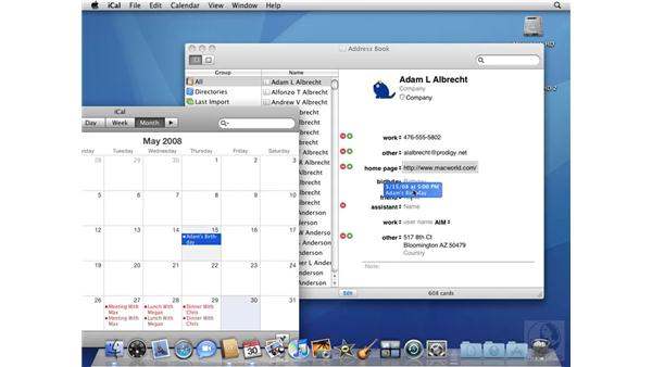 Creating complex contacts: Mac OS X 10.5 Leopard Beyond the Basics