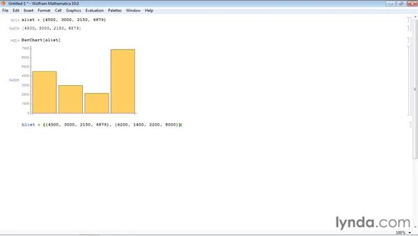Creating a bar chart: Up and Running with Mathematica 10