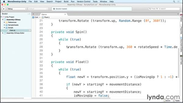 Using Update instead of Coroutine: Scripting Unity with C#