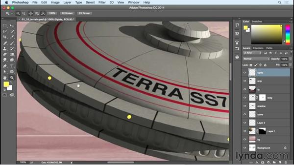 Compositing and finalizing the spaceship: Bert Monroy: Dreamscapes - Offworld Mining