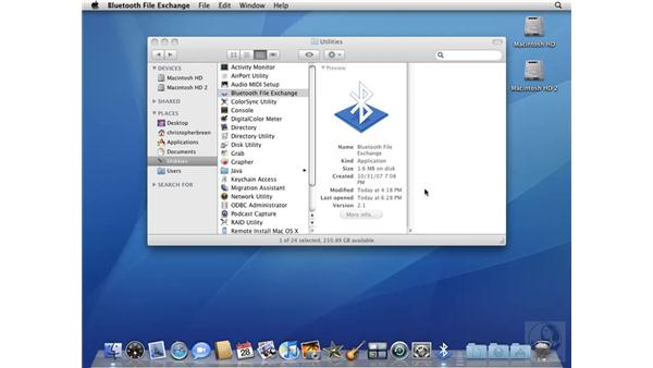 Copying files with Bluetooth File Exchange: Mac OS X 10.5 Leopard Beyond the Basics