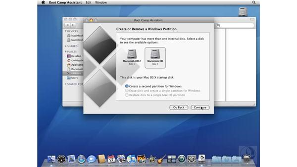Setting up a partition with Boot Camp Assistant: Mac OS X 10.5 Leopard Beyond the Basics