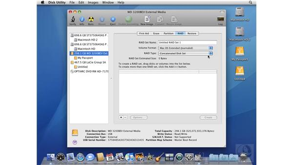Configuring a RAID with Disk Utility: Mac OS X 10.5 Leopard Beyond the Basics