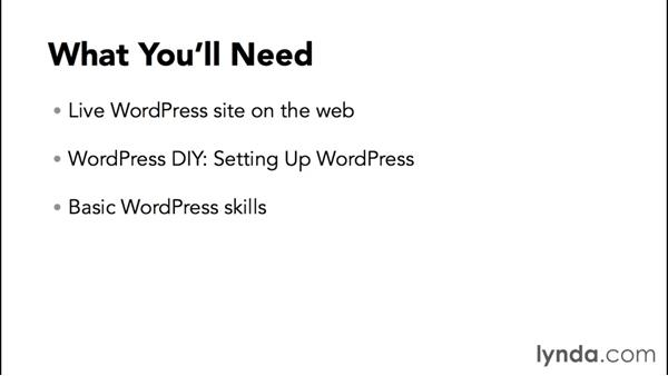 What you'll need to follow this course: WordPress DIY: Weddings and Special Events