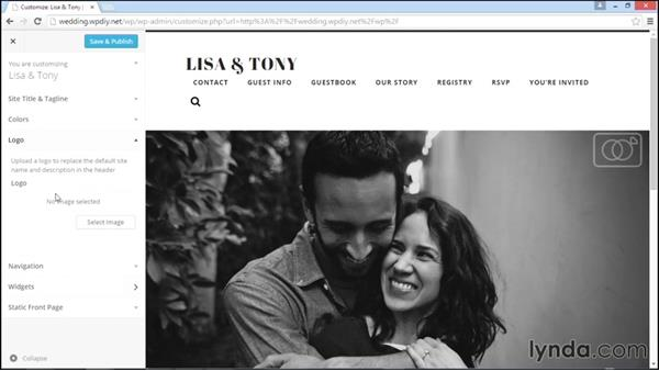 Basic theme configuration: WordPress DIY: Weddings and Special Events
