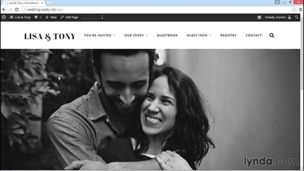 Testing the site before going live: WordPress DIY: Weddings and Special Events