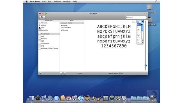 Using Font Book: Mac OS X 10.5 Leopard Beyond the Basics