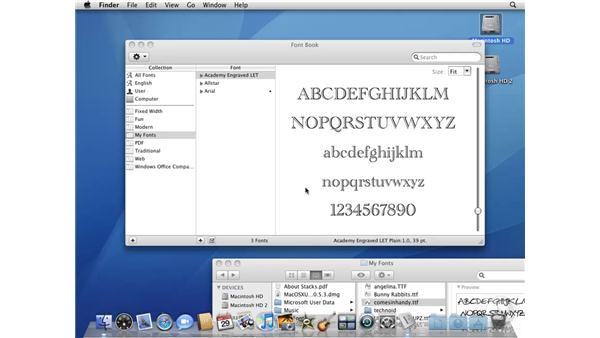 Importing and managing fonts in Font Book: Mac OS X 10.5 Leopard Beyond the Basics