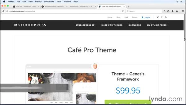 Installing and activating a theme: WordPress and Genesis DIY: Weddings and Special Events