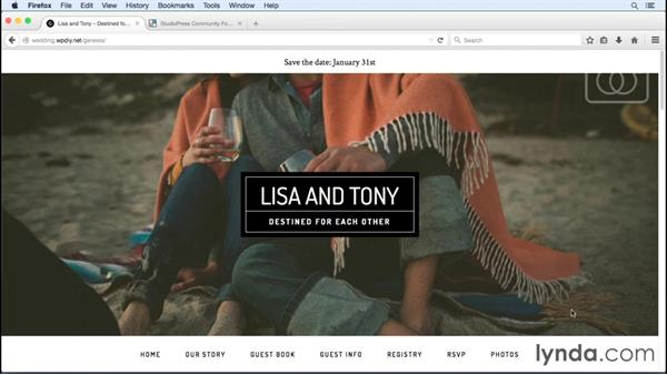 Thank you!: WordPress and Genesis DIY: Weddings and Special Events