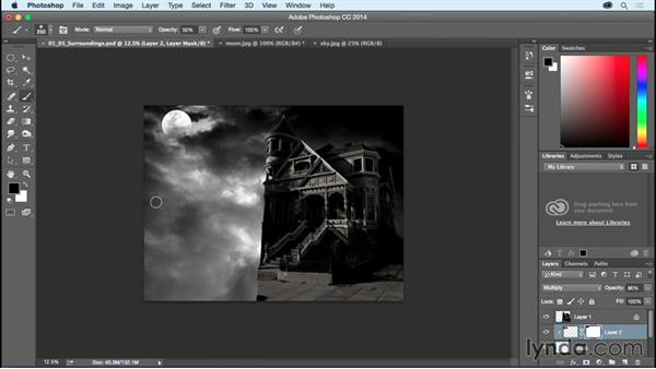 Creating the house's surroundings: Bert Monroy: Dreamscapes - Haunted House