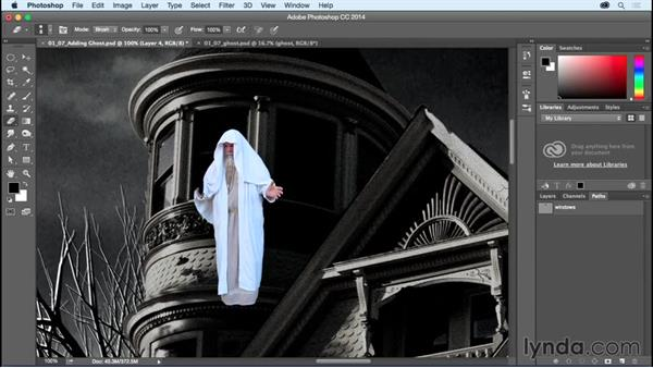 Compositing the ghost figure: Bert Monroy: Dreamscapes - Haunted House