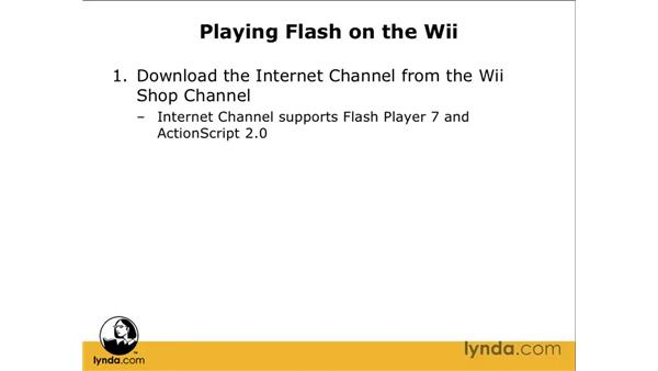 Playing Flash on a Wii: Flash CS3 Professional: Creating Games for the Wii