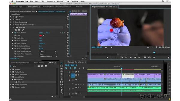 Writing on shapes and text in Premiere Pro: Video Post Tips Weekly
