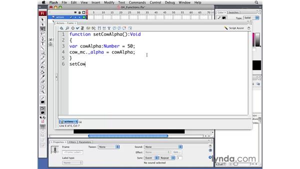Understanding functions: Flash CS3 Professional: Creating Games for the Wii