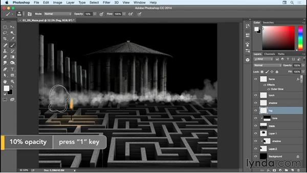 Adding and detailing the fog: Bert Monroy: Dreamscapes - The Maze