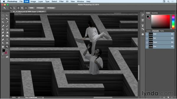 Compositing girl #2 and adding finishing touches: Bert Monroy: Dreamscapes - The Maze