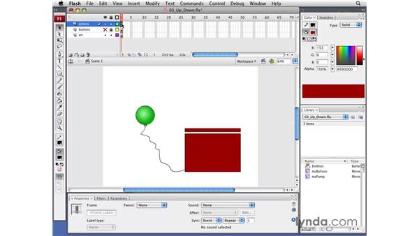 Adding up-and-down or left-and-right interactivity: Flash CS3 Professional: Creating Games for the Wii