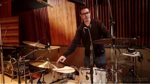 Placing overhead mics: Drum Setup and Mic'ing in the Studio
