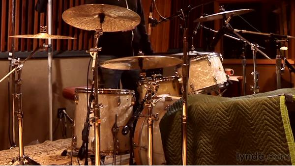 Mic'ing the hi-hat and ride cymbals: Drum Setup and Mic'ing in the Studio