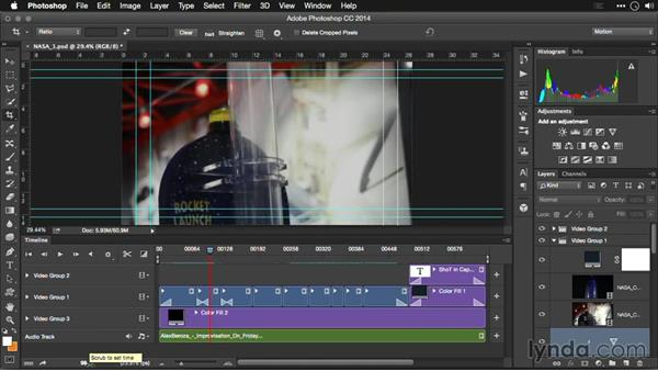 Viewing options in the Timeline: Editing Video and Creating Slideshows with Photoshop CC