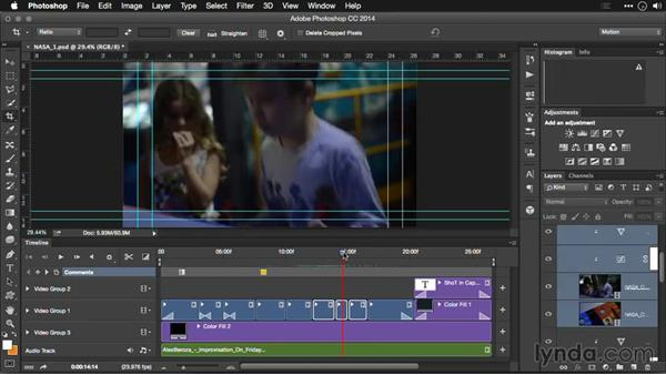 Enabling Timeline shortcut keys: Editing Video and Creating Slideshows with Photoshop CC