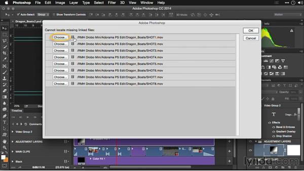 Consolidating files in a single location: Editing Video and Creating Slideshows with Photoshop CC
