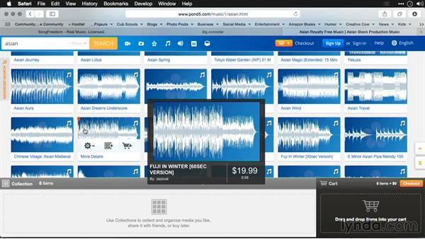 Selecting music: Editing Video and Creating Slideshows with Photoshop CC