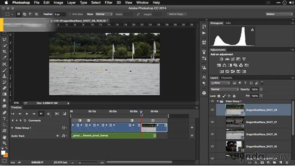 Adjusting duration: Editing Video and Creating Slideshows with Photoshop CC