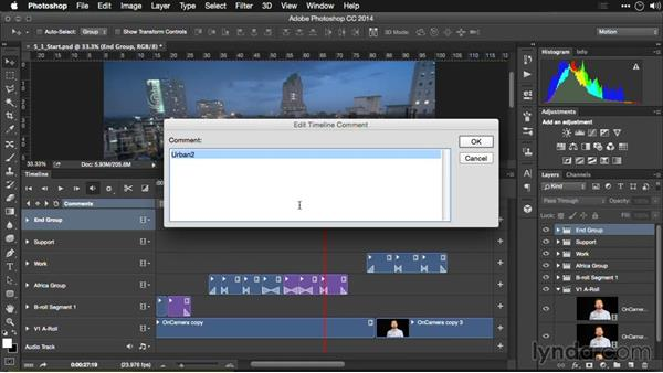 Building complex sequences: Editing Video and Creating Slideshows with Photoshop CC