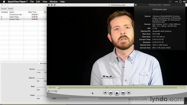 Panning audio: Editing Video and Creating Slideshows with Photoshop CC