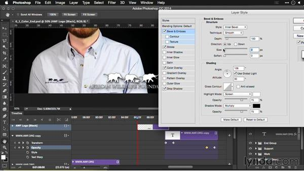 Inserting a logo bug: Editing Video and Creating Slideshows with Photoshop CC