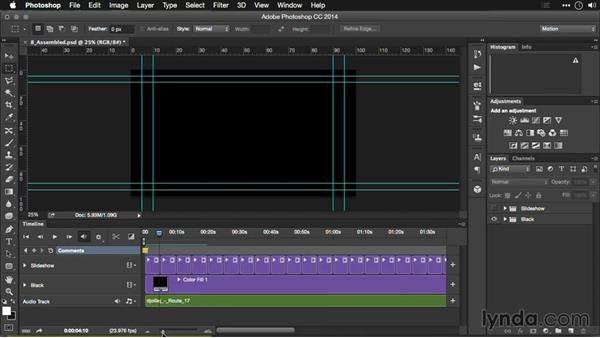 Adding a soundtrack: Editing Video and Creating Slideshows with Photoshop CC