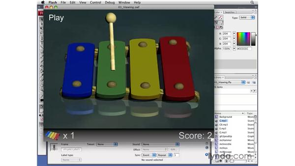 Viewing the finished game: Flash CS3 Professional: Creating Games for the Wii