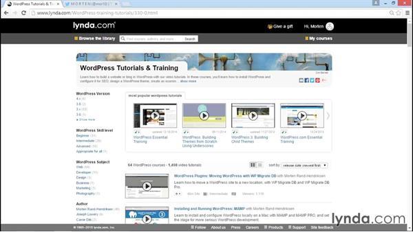 Exploring WordPress theme development with lynda.com: WordPress Workflows