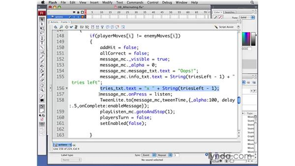 Alternating turns: Flash CS3 Professional: Creating Games for the Wii