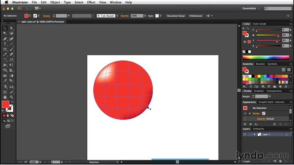 Adding color to a mesh: Creating Gradient Meshes with Illustrator