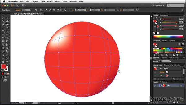 Working with mesh points: Creating Gradient Meshes with Illustrator