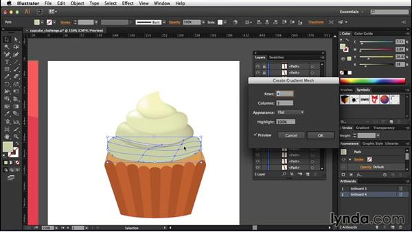 Solution: Creating your first mesh: Creating Gradient Meshes with Illustrator