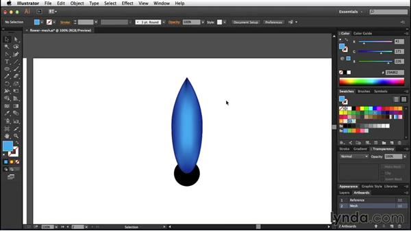 Project: Creating a flower: Creating Gradient Meshes with Illustrator