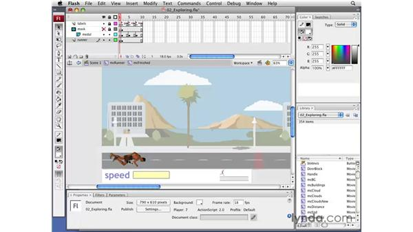 Exploring the game's FLA file: Flash CS3 Professional: Creating Games for the Wii