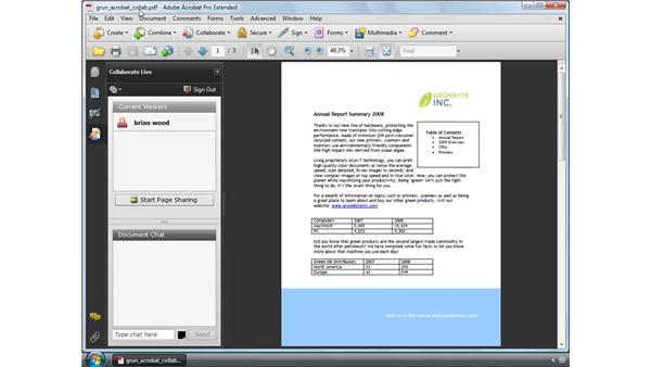 Using the Collaborate Live feature: Acrobat 9 Pro Essential Training