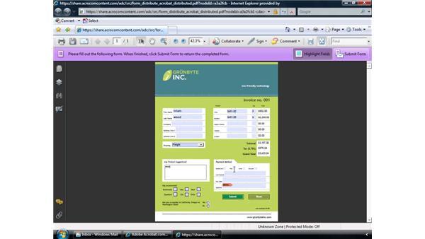 Distributing forms via Acrobat.com: Acrobat 9 Pro: Creating Forms