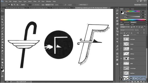 Sketching a few prospective designs: Creating and Adapting a Logo