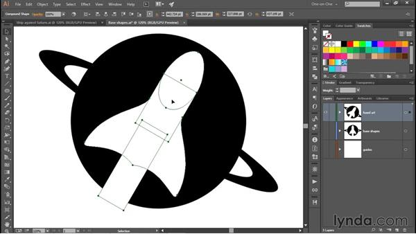 Fusing Saturn and the rocket into a single path: Creating and Adapting a Logo
